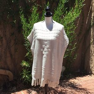 Velvet Off White Sweater/Poncho